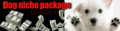 Thumbnail dog niche plr package