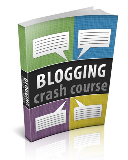 Product picture Blogging Crash Course E book With PLR