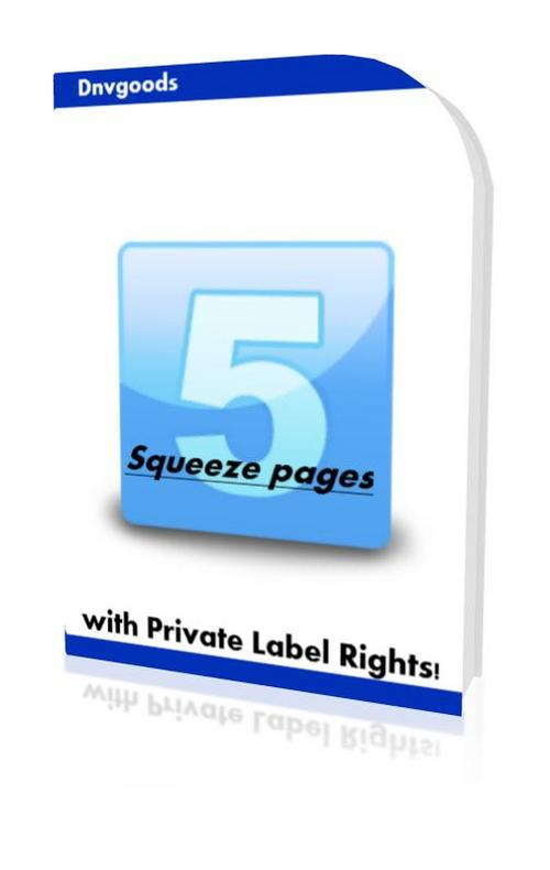 Product picture 5 Squeeze pages with Private Label Rights