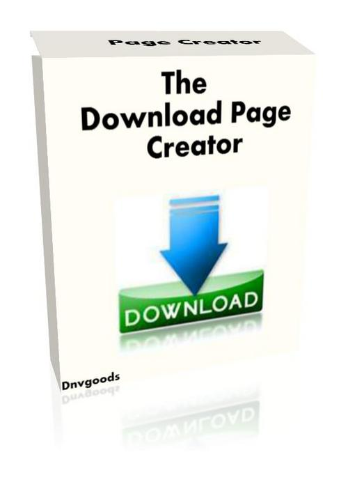 Product picture The Download Page Creator