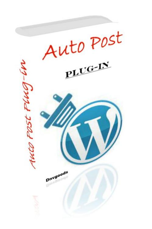 Product picture Auto Post Plug-in With PLR