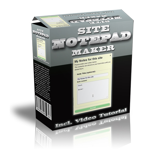 Product picture Web Site Notepad Maker