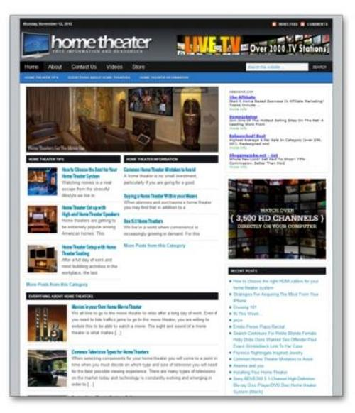 Product picture Home Theater Niche Blog
