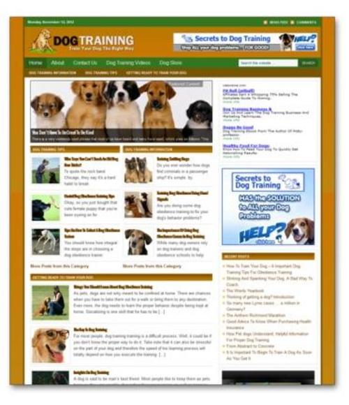 Product picture Dog Training Ready Made Blog