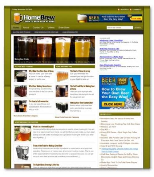 Product picture Home Brewing Niche Blog