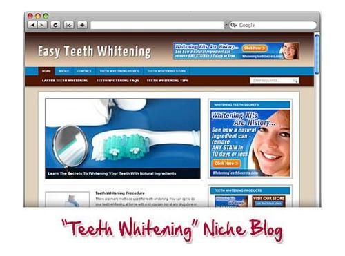 Product picture Teeth Whitening WordPress Blog.zip
