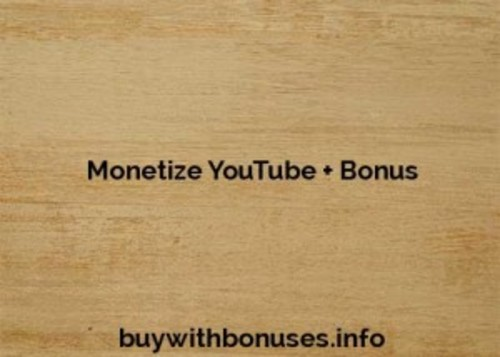 Product picture Monetize YouTube + Bonus